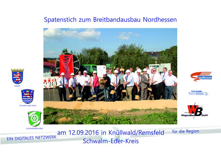 Spatenstich am 12.09.16 in Knüllwald (Schwalm-Eder-Kreis)
