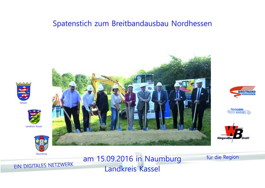 Spatenstich am 15.09.16 in Naumburg (Landkreis Kassel)