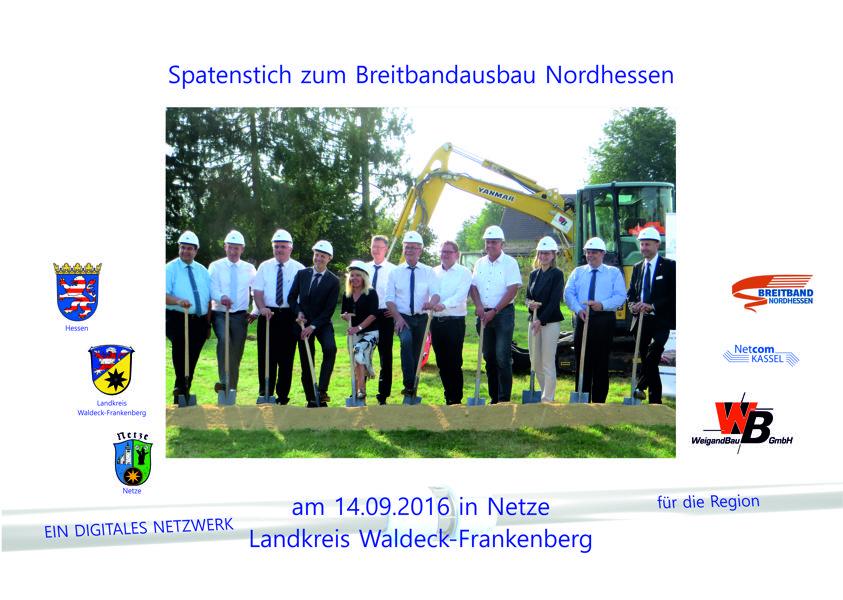 Spatenstich am 14.09.16 in Netze (LK Waldeck-Frankenberg)