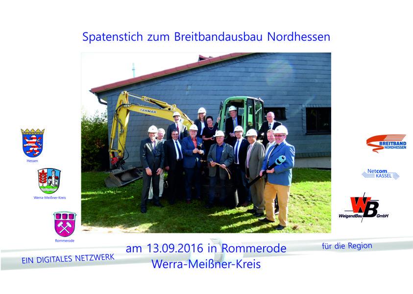 Spatenstich am 13.09.16 in Rommerode (Werra-Meißner-Kreis)
